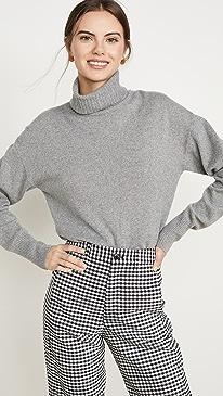 Cashmere Boyfriend Turtleneck Sweater