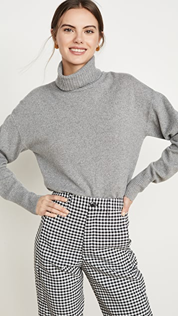 Reformation Cashmere Boyfriend Turtleneck Sweater