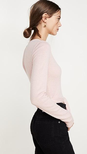 Reformation Кашемировый свитер с запахом