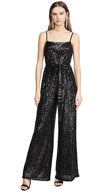 Reformation Prince Sequined Jumpsuit