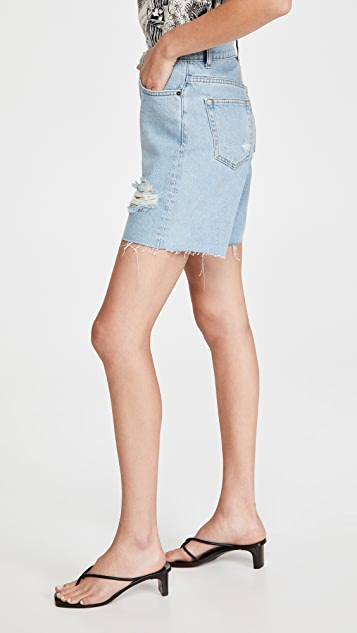 Reformation Max Mid Rise Relaxed Shorts