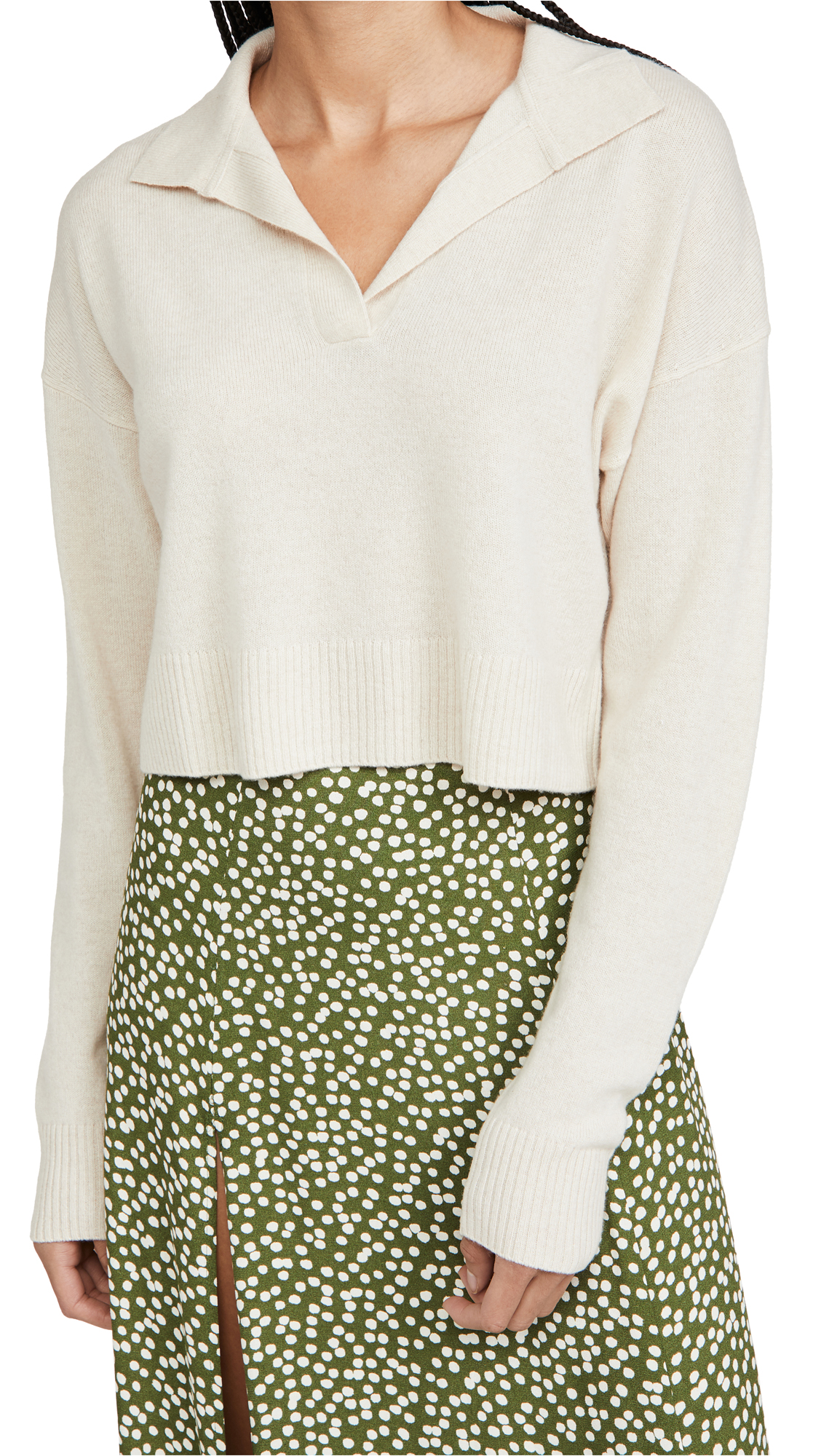 Reformation Cashmere Polo Sweater