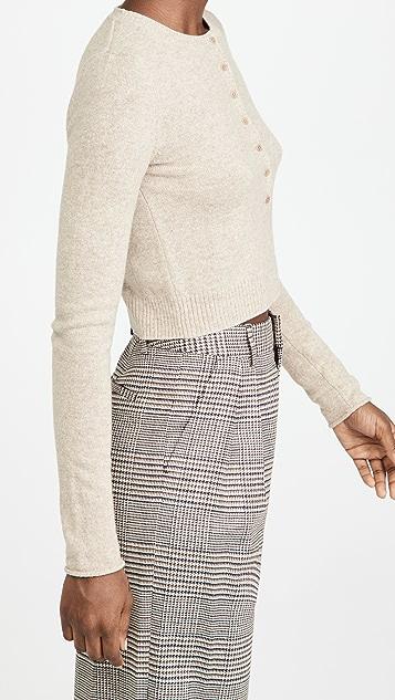 Reformation Cashmere Henley Sweater