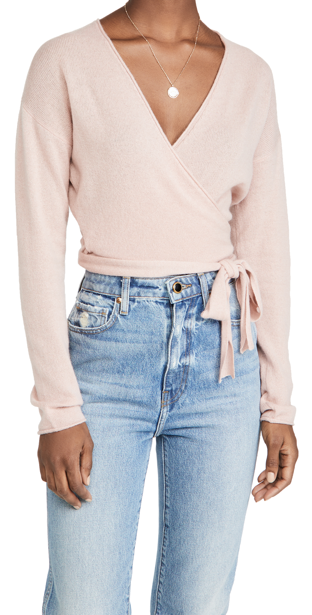 Reformation Relaxed Cashmere Wrap Sweater