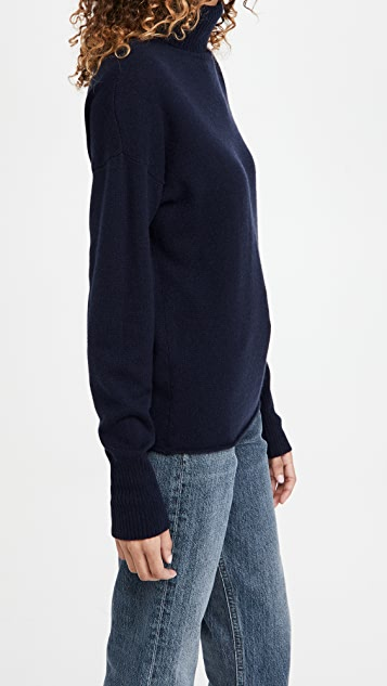 Reformation Relaxed Cashmere Turtleneck Sweater
