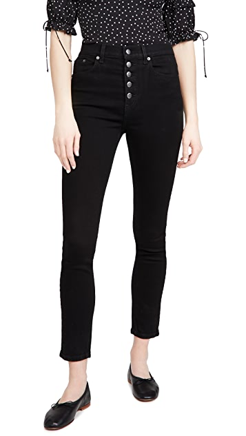 Reformation Harper Button Fly High Rise Skinny Jeans