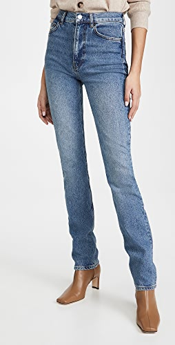 Reformation - Liza High Straight Long Jeans