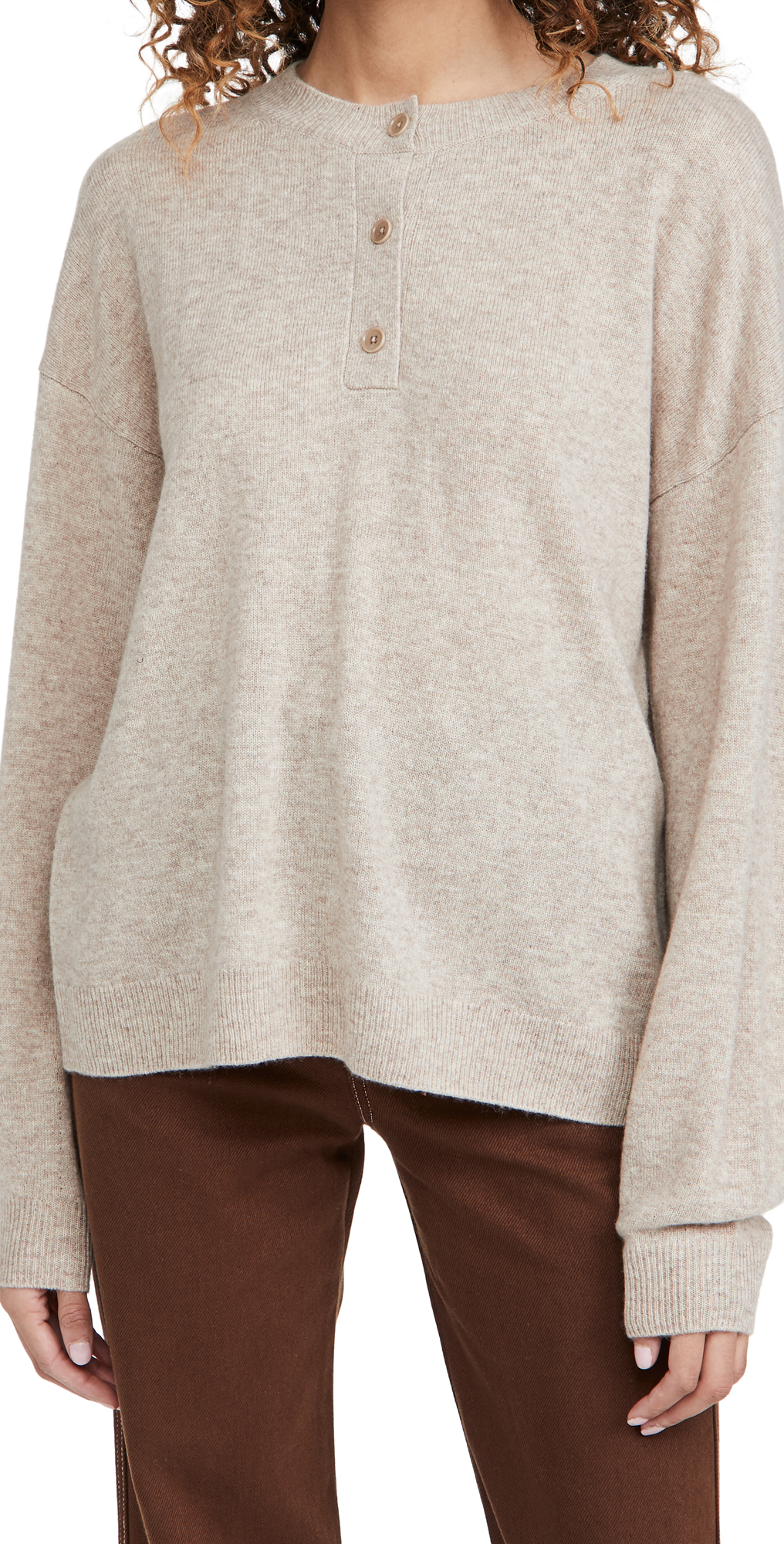 Reformation Oversized Cashmere Henley
