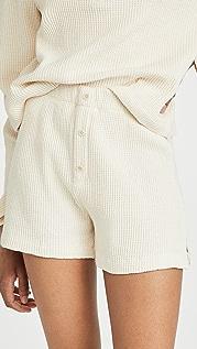 Reformation Dixon Waffle Shorts