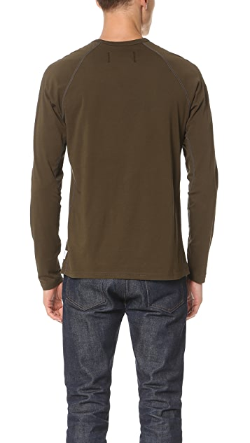 Reigning Champ Cotton Jersey Long Sleeve Tee