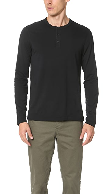 Reigning Champ Cotton Jersey Long Sleeve Henley