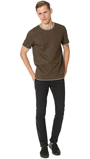 Reigning Champ Diagonal Terry Short Sleeve Crew Sweatshirt