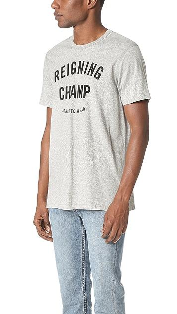 Reigning Champ Ringspun Jersey Gym Logo Tee