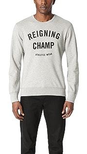 Reigning Champ Mid Weight Terry Gym Logo Crew Sweatshirt