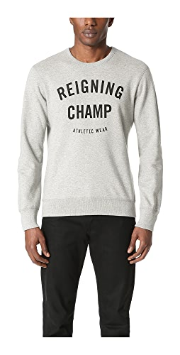 Reigning Champ - Mid Weight Terry Gym Logo Crew Sweatshirt