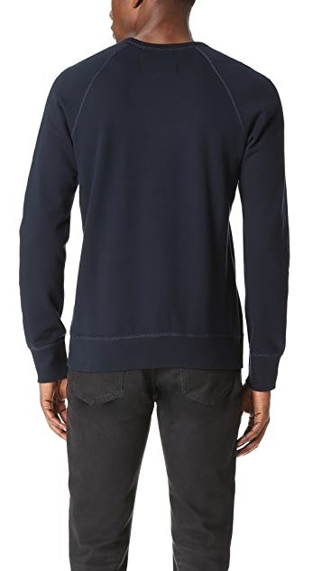 Reigning Champ Mid Weight Terry Gym Logo Crew Sweatshirt