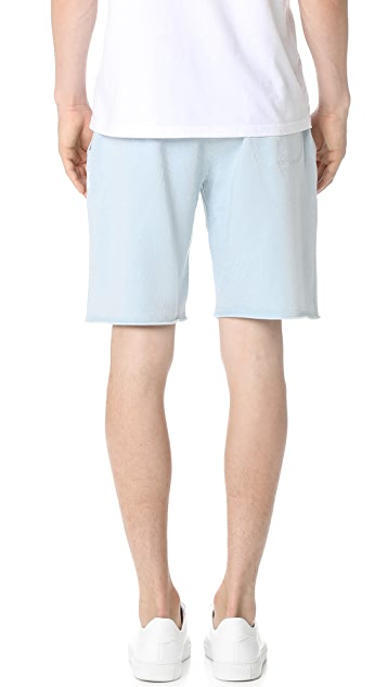 Reigning Champ Lightweight Terry Raw Edge Shorts