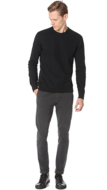 Reigning Champ Side Zip Crew Neck Sweatshirt