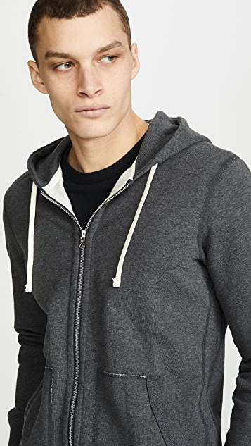 Reigning Champ Mid Weight Full Zip Hoodie