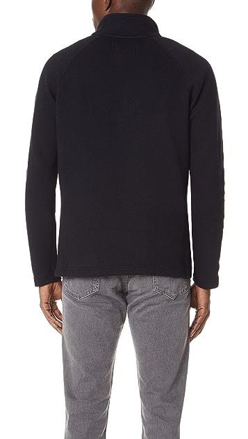 Reigning Champ Mesh Double Knit Half Zip Long Sleeve Sweatshirt