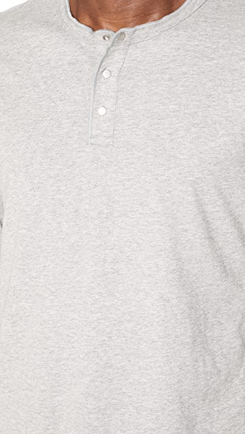 Reigning Champ Ring Spun Long Sleeve Henley