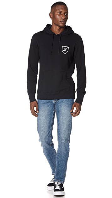 Reigning Champ Lighweight Shield Logo Hoodie