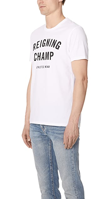 Reigning Champ Gym Logo Tee