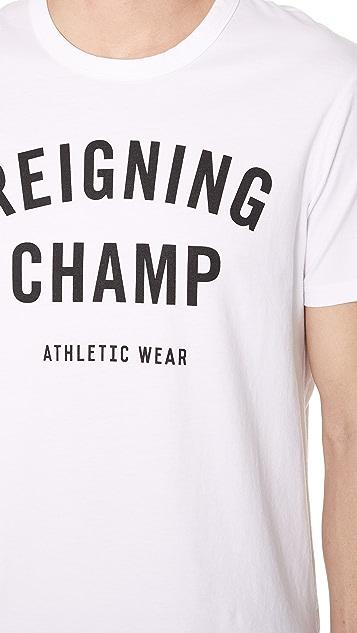 Reigning Champ Gym Logo Tee
