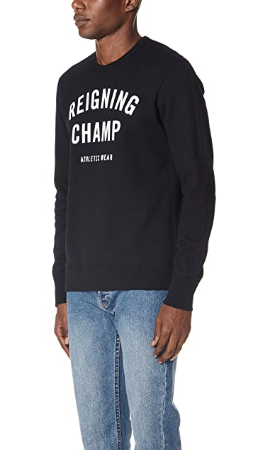 Reigning Champ Gym Logo Crew Neck Sweatshirt