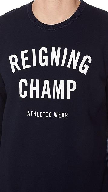 Reigning Champ Gym Logo Crew Neck Sweatshirt