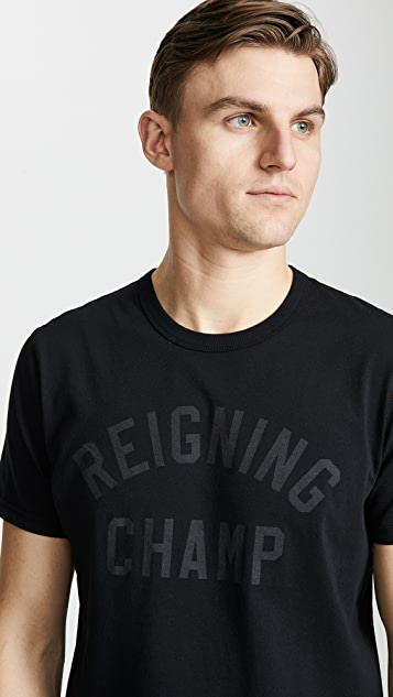 Reigning Champ Club Logo T-Shirt