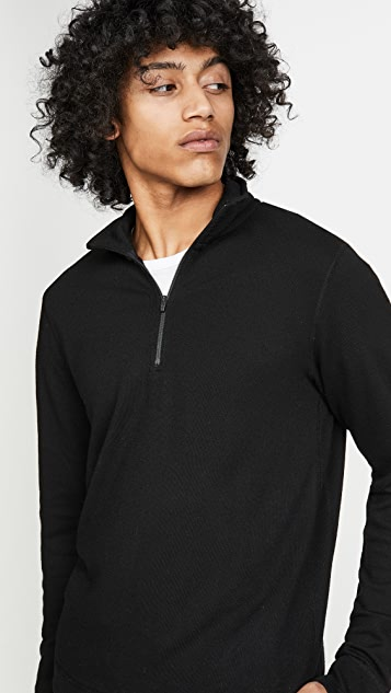 Reigning Champ Merino Wool Terry Half Zip Pullover