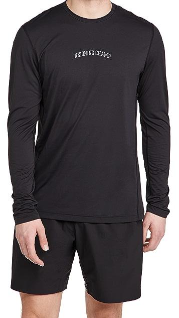 Reigning Champ Long Sleeve Logo Training Shirt