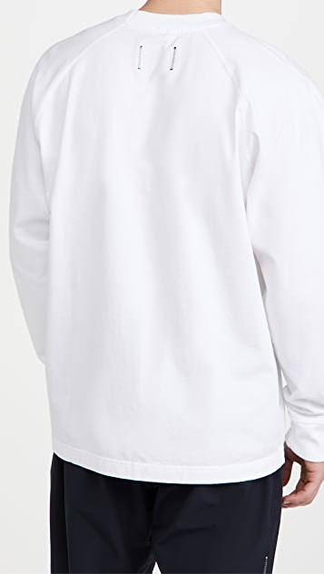 Reigning Champ Embroidered Long Sleeve Jersey Tee
