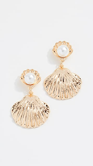 61da75fec Reliquia Seashell Imitation Pearl Earrings | SHOPBOP