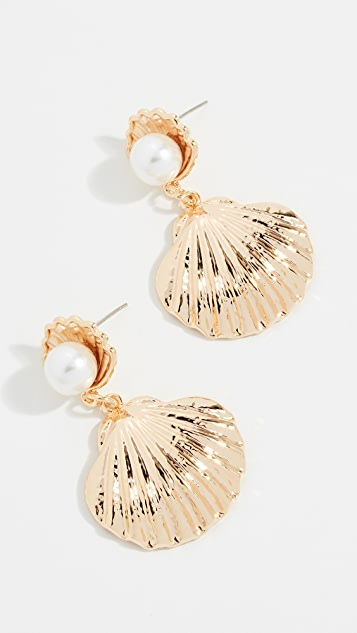 Reliquia Seashell Imitation Pearl Earrings