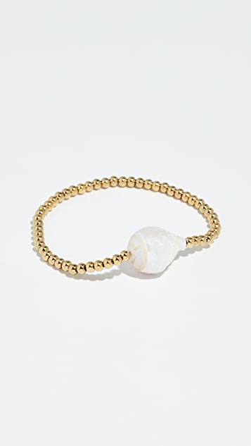 Reliquia Single Keshi Cultured Pearl Bangle Bracelet