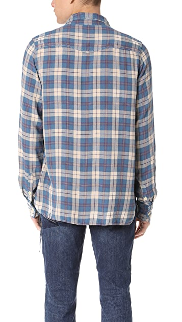 Remi Relief Rayon Flannel Check Shirt