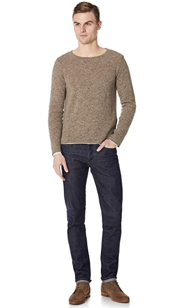 Remi Relief Wool Layered Crew Neck Shirt
