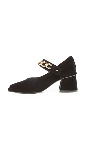 Reike Nen Square Mary Jane Chain Pumps