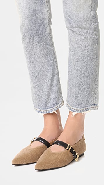 Reike Nen Pointed Buckle Flats