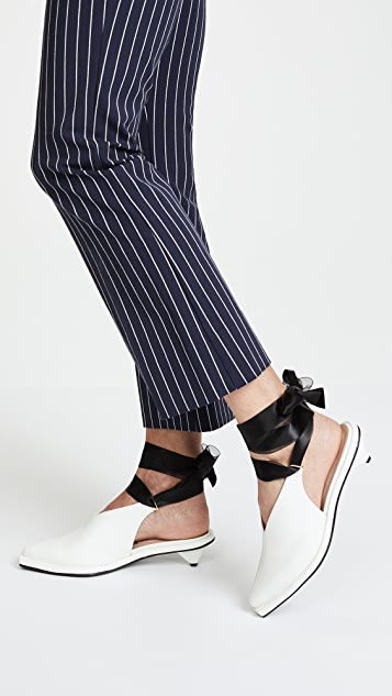 Reike Nen Kitten Ribbon Slingback Pumps