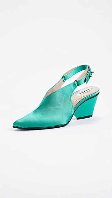 Reike Nen Satin Middle Slingback Pumps