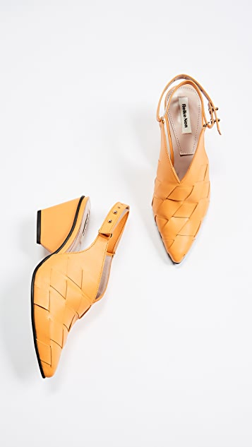 Reike Nen Weaving Middle Slingback Pumps