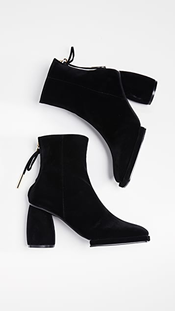 Reike Nen Square Ribbon Half Booties