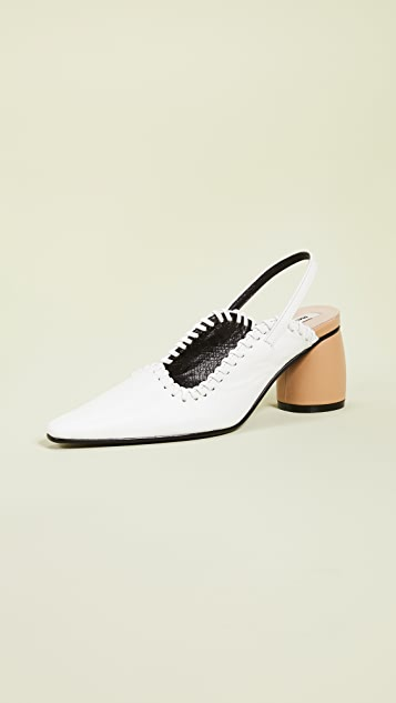 Reike Nen Округлые туфли-лодочки Middle с ремешком на пятке