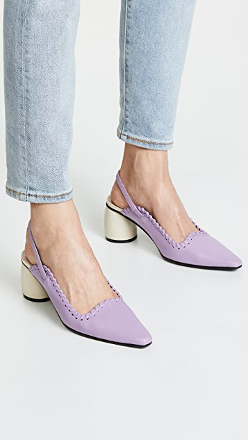 Reike Nen Curved Middle Slingback Pumps