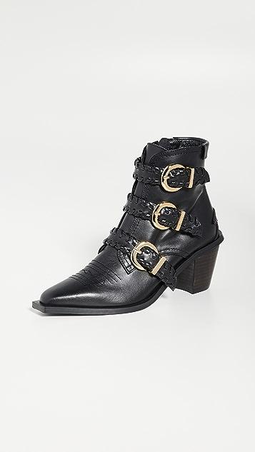 Reike Nen 翻折固定带靴子