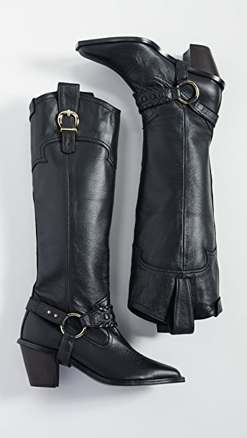 Reike Nen Western Knee High Boots