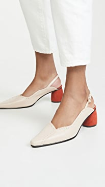 Mixed Turnover Slingbacks